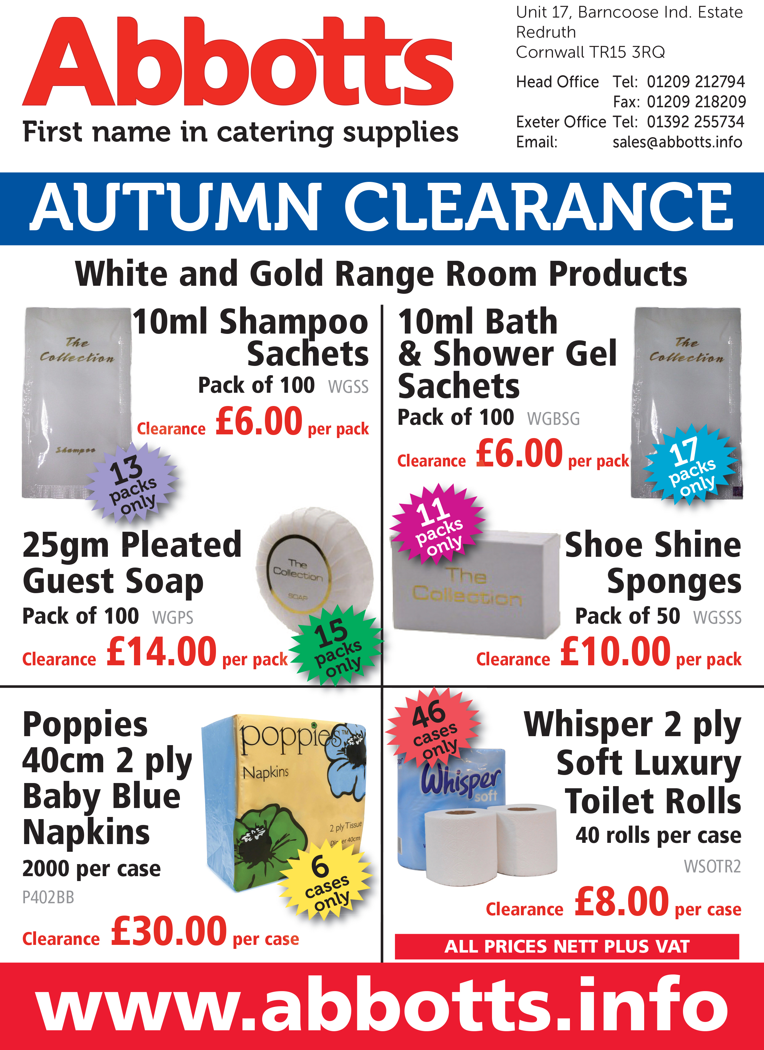 CLEARANCE/SPECIALS CATALOGUES