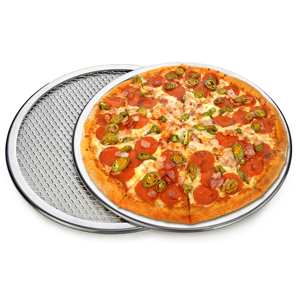 Aluminium Flat Mesh Pizza Screens