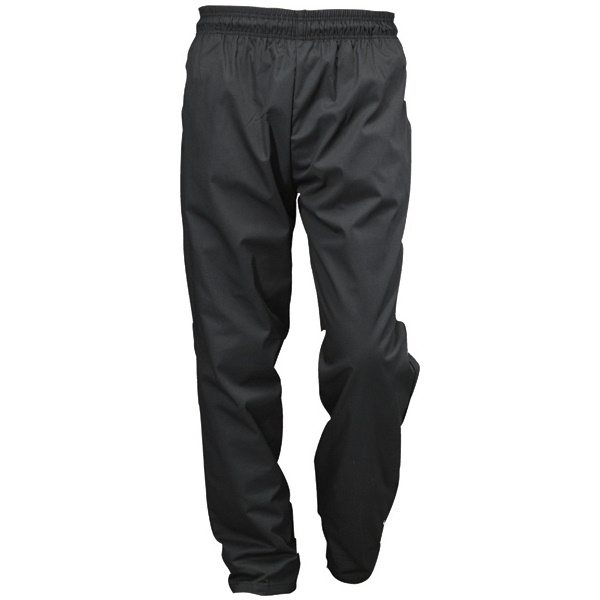CHEFS BLACK TROUSERS  POLY / COTTON  SIZE SMALL   PEGA202