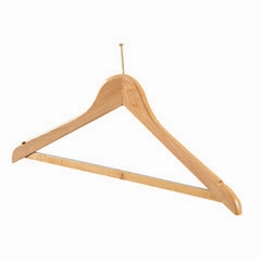 WOODEN SECURITY COATHANGER