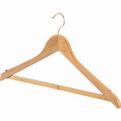 QUALITY WOODEN COATHANGER HOOKED