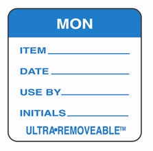 "MONDAY USE BY LABELS 2""x2"""" 500"