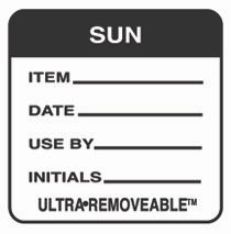 "SUNDAY USE BY LABELS 2""x2"""" 500"
