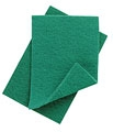 "CATERER'S SCOURERS GREEN 9"" x 6""  PACK OF 10"