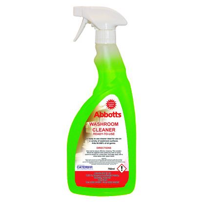 ABBOTTS GREEN BIOLOGICAL WASHROOM CLEANER 6 X 750ML