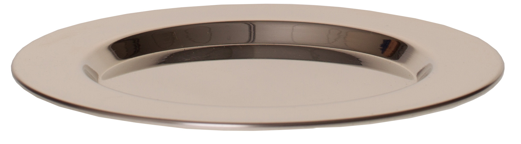 "STAINLESS STEEL TIP TRAY 5"" ROUND"