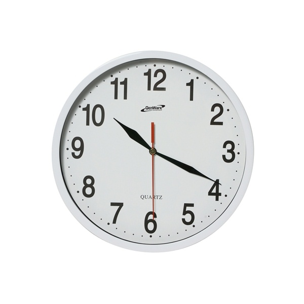 KITCHEN CLOCK WHITE 24cm DIA - CLK