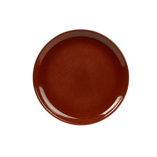 TERRA STONEWARE RUSTIC RED COUPE PLATE 27.5cm - CP-R27