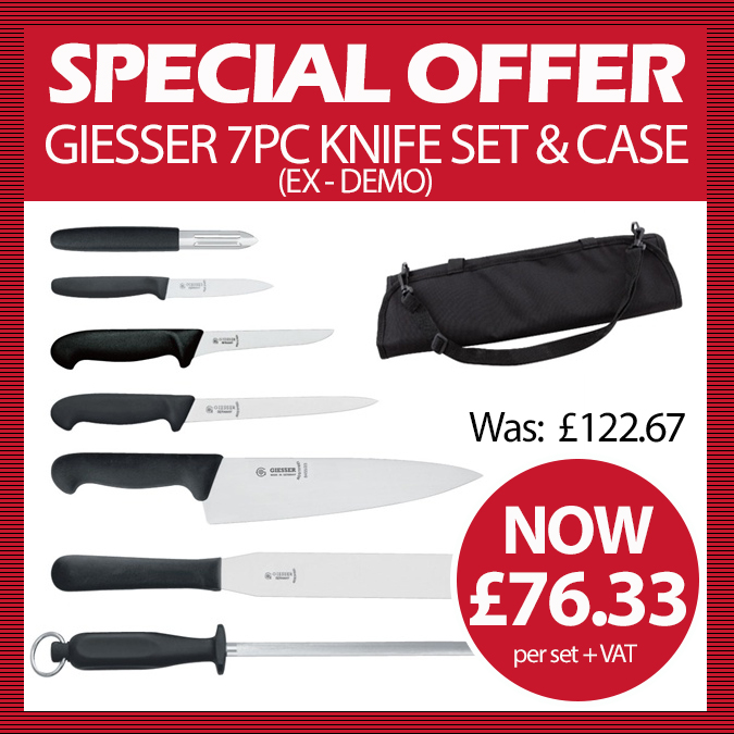 GIESSER 7PC KNIFE SET & CASE (EX DEMO)