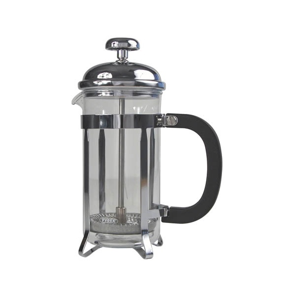 8 CUP CAFETIERE -CHROME FINISH WITH HANDLE