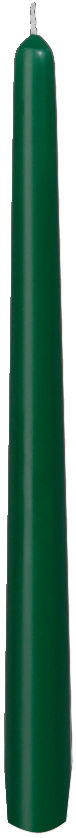"25cm 10"" CANDLES DARK GREEN PER 100"