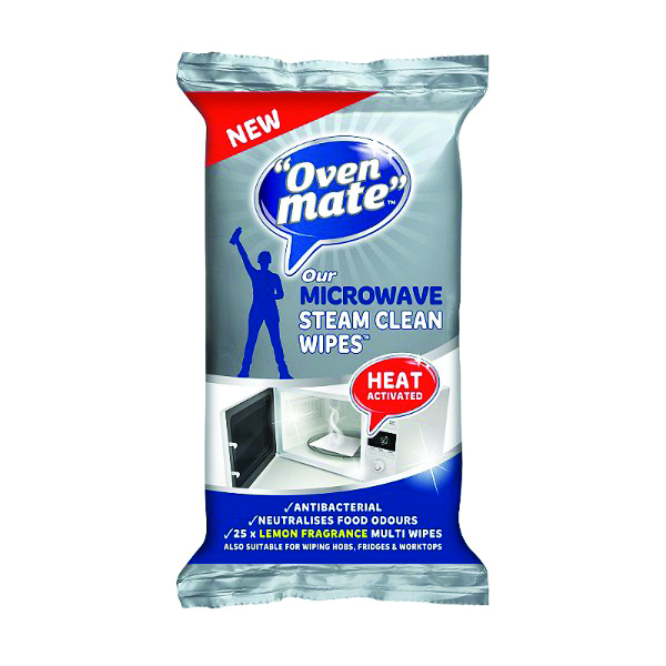 OVEN MATE MICROWAVE WIPES 12 PACKS x 25 WIPES