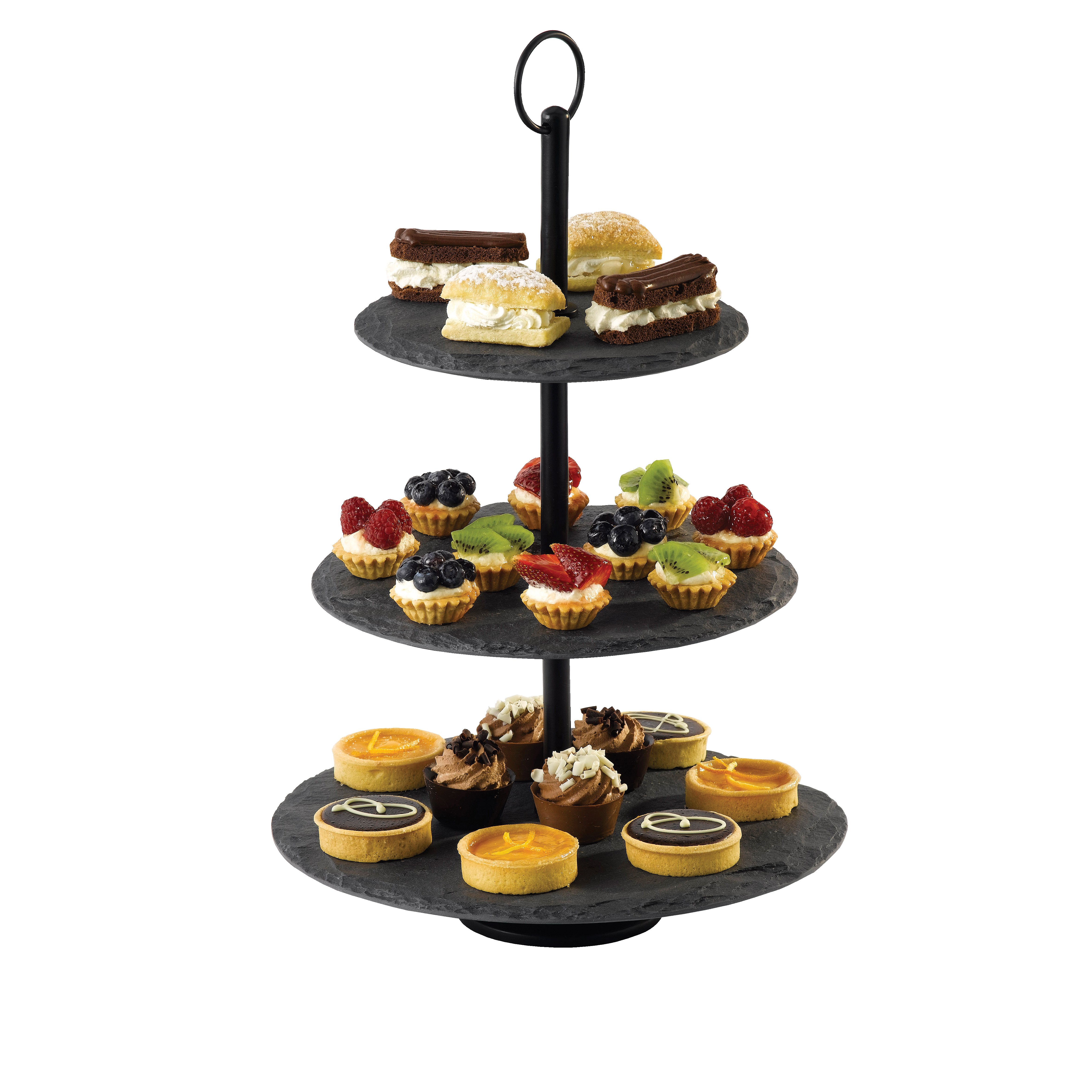 ARTIS SLATE ROUND 3 TIER PLATE STAND 63-46-944