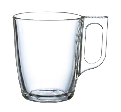 NUEVO TEMPERED GLASS MUG 25CL 8.25oz  PACK of  6
