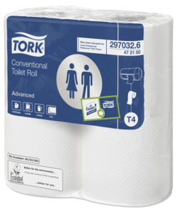 TORK CONVENTIONAL TOILET ROLL 320 SHEET 2 PLY 36 CASE 472150