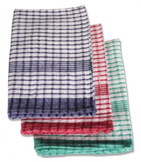 RICE WEAVE COLOURED TEA TOWELS PACK OF 10