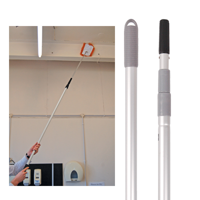 TELSCOPIC HANDLE FOR COBWEB BRUSH EXTENDS 1.35 TO 2.5m