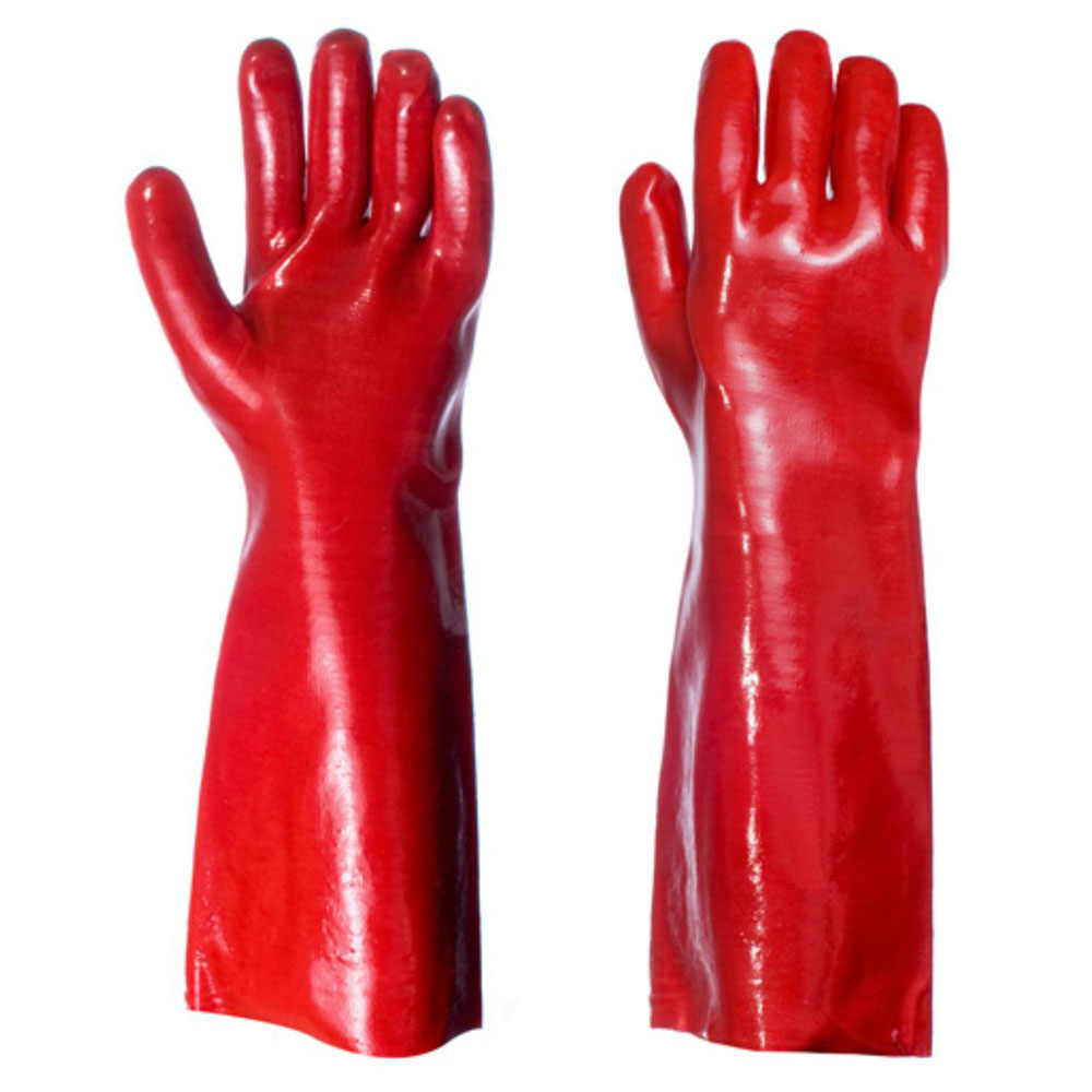 HEAVY DUTY PVC GAUNTLET GLOVES PER PAIR