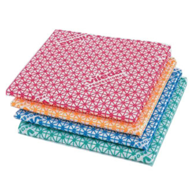 MEDIUM WEIGHT RED VILEDA CLEANING CLOTHS  PACK OF 10