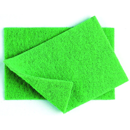 "VILEDA SUPER SCOURERS GREEN 9"" x 6""""  PACK OF 10"