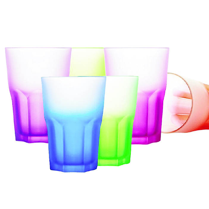 AMERICAN TECHNO ASSORT COLOURS O/F TUMBLER 30CL   PACKS OF 6