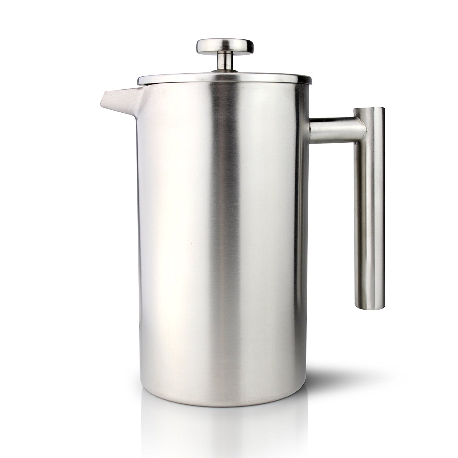 CAFE OLE DOUBLE WALL COFFEE MAKER  8 CUP  SATIN FINISH