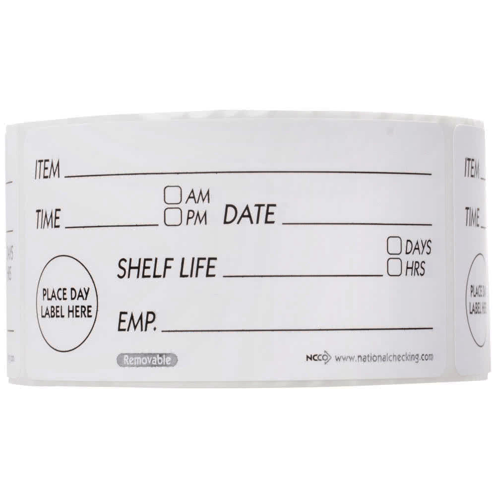 "SHELF LIFE LABEL 4"" x 2""       500 PER ROLL"
