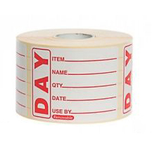 DAY PREPPED LABEL 50 x 65mm 500 P/ROLL