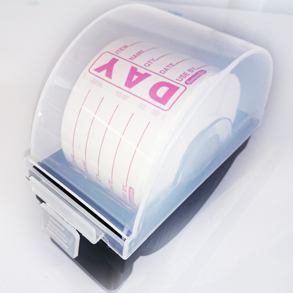 DISPENSER c/w DAY PREPPED LABELS per 500 per roll