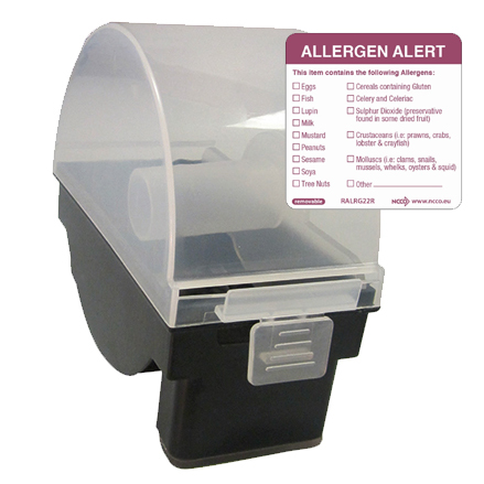 DISPENSER RBPLD c/w ALLERGEN LABELS per 500 per roll