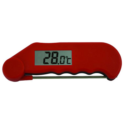GOURMET FOLDING PROBE THERMOMETER RED -39 to 149.9
