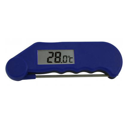 GOURMET FOLDING PROBE THERMOMETER BLUE -39 to 149.9