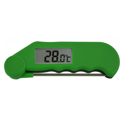GOURMET FOLDING PROBE THERMOMETER GREEN -39 to 149.9