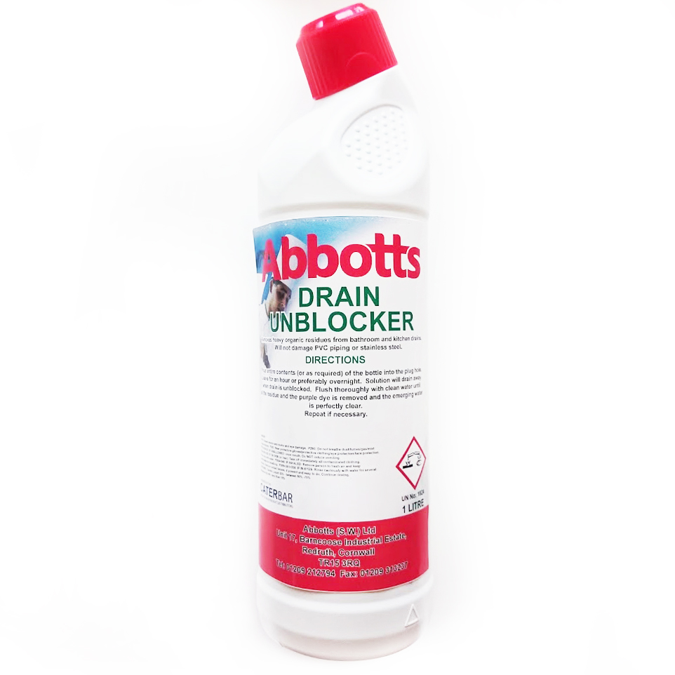 ABBOTTS DRAIN UNBLOCKER 1L - Abbotts