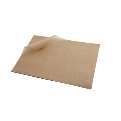 GREASEPROOF PAPER 25X20CM 1000SHTS BROWN