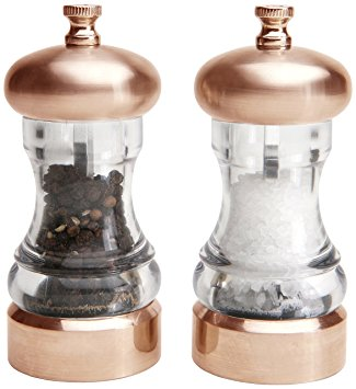 MERCURY COPPER/ACRYLIC SALT & PEPPER MILL SET