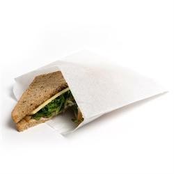 """WHITE GREASEPROOF PAPER BAGS 8 x 8""""  ( PACK OF 1000 ) GP088"""