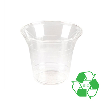 COMPOSTABLE 8.8oz PLA CLEAR COLD DRINK CUP X 1000