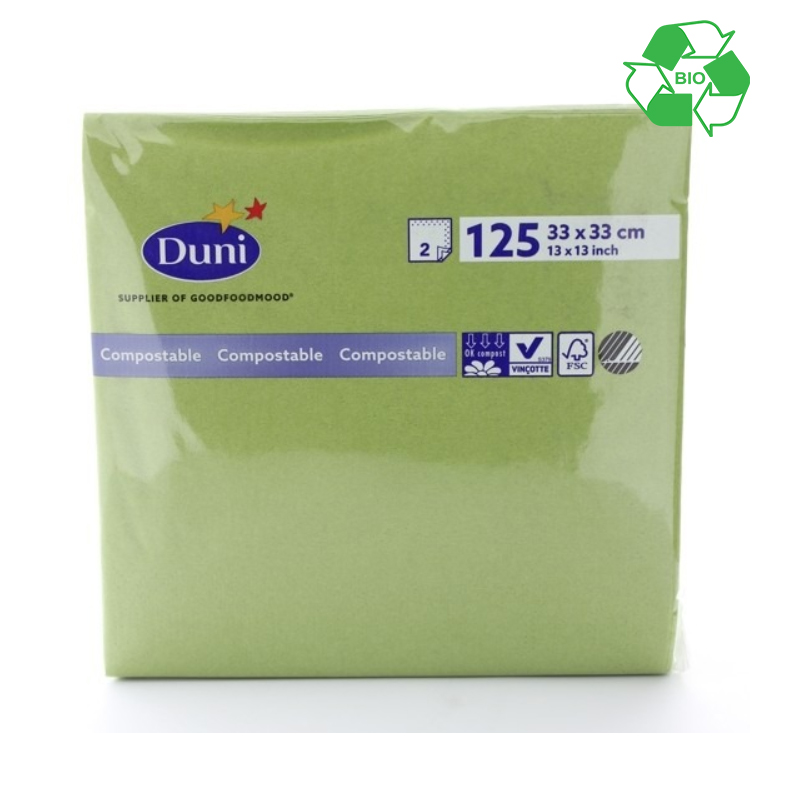 CASE 2000 33/2 HERBAL GREEN SERVIETTES  165512