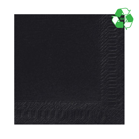 CASE 1000 40CM 3PLY BLACK NAPKINS  151820
