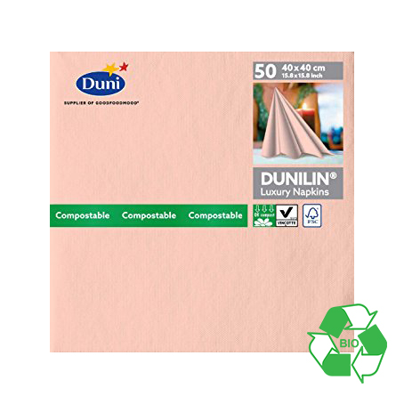 DUNILIN MELLOW ROSE NAPKINS CASE OF 600   174168