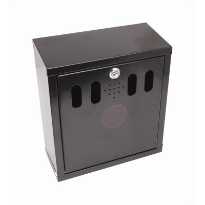 BLACK WALL MOUNTED OUTDOOR ASHTRAY    AT-WM-BLK